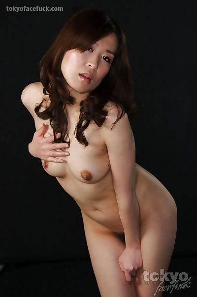 Naked Japanese chick chokes..