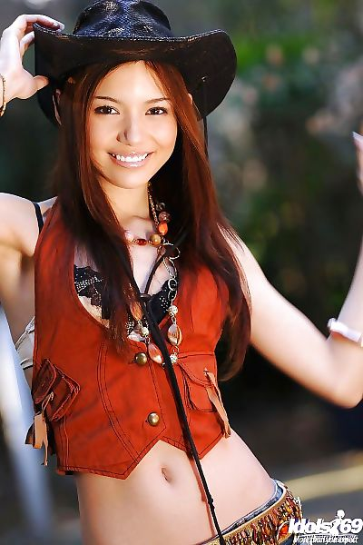 Lovely teenage asian cowgirl..
