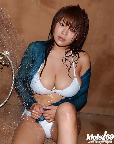 Sexy asian babe with big..