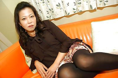 Chippy asian MILF strips..