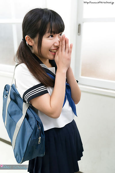 Japanese schoolgirl in..