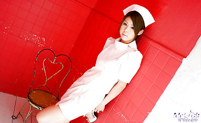 Busty asian nurse Haruka..