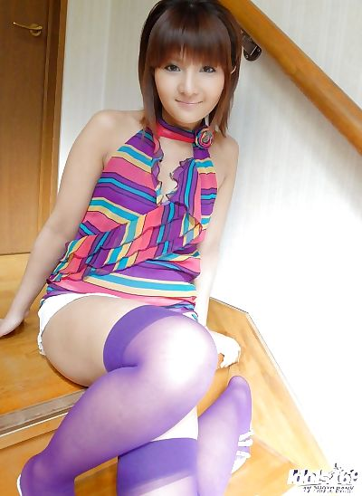 Petite asian teen with..