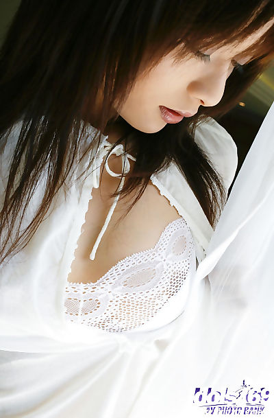 Adorable asian babe with..