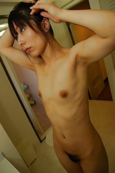 Slim asian MILF with trimmed..
