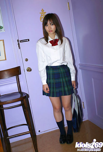 Naughty asian schoolgirl..