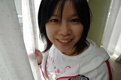 Smiley asian teen Sae Aihara..