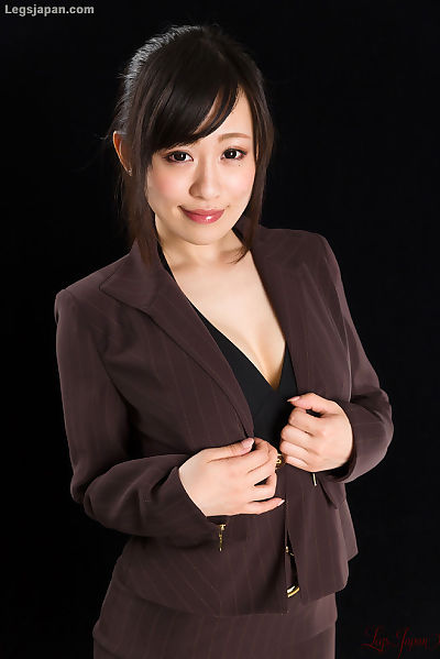 Japanese woman in suit..